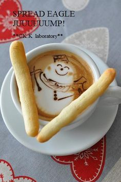 skiing snowman coffee latte www.camphopekids.orghttp://blendedgiving.com/causes/camp-hope-fundraising-coffee/