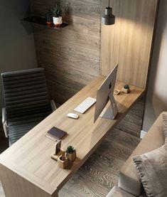 Trendy Bedroom Loft Desk Home Office Diy Interior, Office Interior Design, Office Interiors, Interior Design Living Room, Living Room Designs, Apartment Office, Loft Office, Apartment Design, Ceo Office