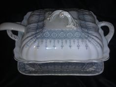 Vintage 1880 Royal Vitreous Soup Tureen & Underplate.