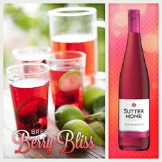 The Sutter Home Breezy Berry Bliss is the perfect wine cocktail recipe to share!