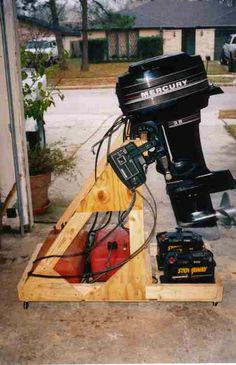 Another boat motor stand