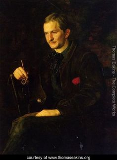 The Art Student (or Portrait of James Wright) - Thomas Cowperthwait Eakins - www.thomaseakins.org
