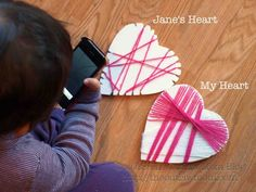 {Play} Valentine's Day   Lacing Hearts Activity - The Outlaw Mom® Blog - Tips for Raising Thinking Kids + Creative Living