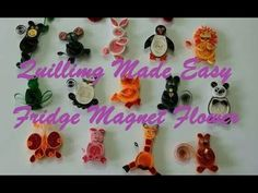 Quilling Made Easy # How to make Quilling Fridge Magnet Flower Green -Pa...