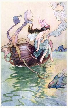 oldbookillustrations:  For the nautilus is my boat.  Warwick...