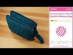 There is nothing additional elegant and comfortable than this beautiful double makeup bag so that we are going to teach you ways to crochet this useful bag.