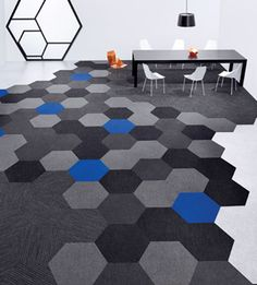 Hexagon carpet tiles by Shaw