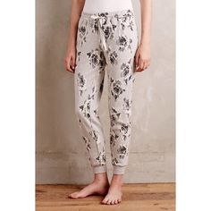 Anthropologie Graybloom Joggers Very unique soft , textured joggers . I love the detail of these pants with the big flowers . These are so comfortable , can be dressed up or down . Brand new with the tags attached . Anthropologie Pants Track Pants & Joggers