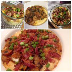 Shrimp and Grits combination of these 2 posts http://pinterest.com/pin/279082508134854313/ http://pinterest.com/pin/279082508134760334/.  I added Colby and Parmesan cheese to make three cheese grits. A must try easy, excellent and delicious🍴🍴🍴 Cheese Grits, Ratatouille, Posts, Parmesan, Shrimp, Messages