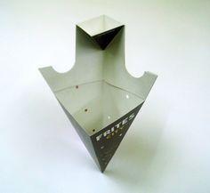 Cono de cartón para patatas y salsa | FAICOM - Cajas, envases y packaging