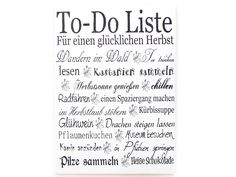 Wandtafel TO DO HERBST Vintage Shabby Schild von INTERLUXE auf DaWanda.com