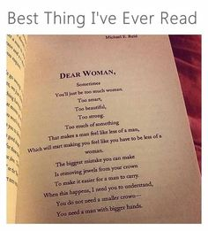 Dear Women... This is the best thing I've ever read in my life!