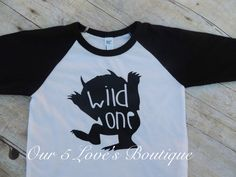 wild one, birthday shirt, first birthday, I'll eat you up, trendy, raglan, baseball tee, Where the wild things are, toddler boy, baby boy by Our5loves on Etsy https://www.etsy.com/listing/250207200/wild-one-birthday-shirt-first-birthday