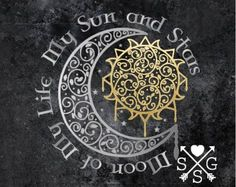 Game Of Thrones Moon of My Life My Sun and Stars Decal Sun and Moon Decal Khal Drogo and Daenerys sun moon