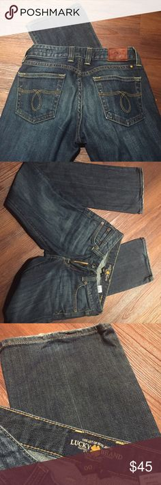 Lucky Brand jeans Excellent condition. See pics for heel wear. Lola boot cut. Tag says 00/24 Lucky Brand Jeans Boot Cut