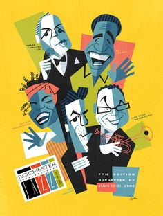 David Cowles is an award winning Illustration and Animation Director. Jazz Club, Jazz Festival, Festival Posters, Musik Illustration, Jazz Poster, Unique Poster, Jazz Artists, Dieselpunk, Vintage Posters