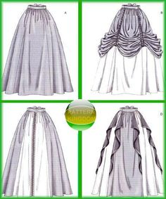 McCalls 4090 Medieval/Renaissance Skirt/Dress Patterns my bottom is the top right