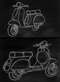 The Blueprints Vector Drawing Vespa
