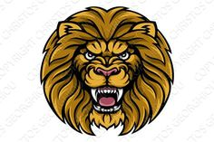 Buy Lion Sports Mascot by Krisdog on GraphicRiver. An angry lion sports mascot animal character Lion Head Tattoos, Leo Love, Lion Art, 3 D, Rooster, Beast, Lion Sculpture, Graphic Design, Statue