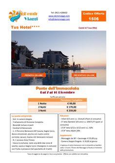 Tus Hotel - Castel di Tusa (Me) Ponte dell'Immacolata Per info e preventivi tel 0921428602 Email: info@demirviaggi.com Web: www.demirviaggi.com #Sicilia #Viaggi #LastMinute #Offerte