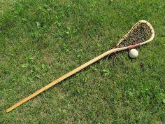 Traditional Lacrosse Stick Wooden Lacrosse Sticks, Stick Sports, La Crosse, Science Fair Projects, Sports Equipment, Projects To Try, Traditional, Brother, War