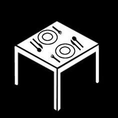 Pictogram: table setting