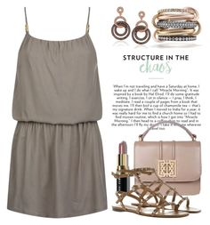 Taupe Dress or Gown 3709 by boxthoughts on Polyvore featuring polyvore fashion style Heidi Klein Valentino SPINELLI KILCOLLIN Suzy Levian Bobbi Brown Cosmetics clothing