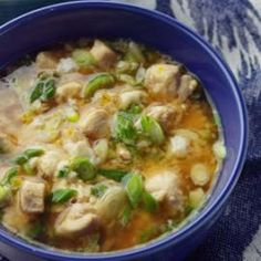 Japanese Chicken-Scallion Rice Bowl Here's the quintessence of Japanese home cooking: an aromatic, protein-rich broth served over rice. Admittedly, Japanese cooking leans heavily on sugar - for a less traditional taste, you could reduce or even omit the sugar.Quick and Healthy Soup Recipes   Eating Well