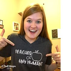 teacher of tiny humans tee by L. Paull Designs for All