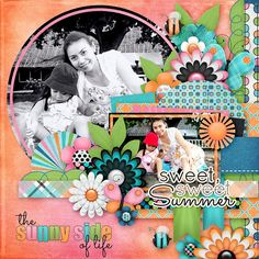Layout using one of Template Pack 87 by AK Designs that is available at Scraps N' Pieces. Kit used is The Sunny Side of Life Collection by Fayette Designs of Pickleberrypop