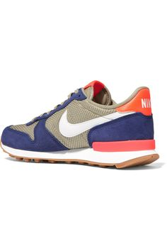 Nike | Internationalist suede, leather and mesh sneakers | NET-A-PORTER.