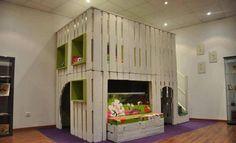 choisir un meuble en palette de bois lit originale pour la chambre enfant
