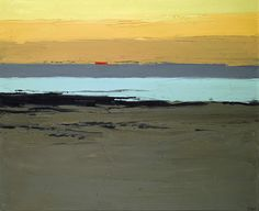 This is simplicity, you think.minimal use of colours, minimal use of brush strokes and up close it looks unimpressive, but stand back and look at it and you see the talent of the artist. Abstract Landscape, Landscape Paintings, Abstract Art, Kyffin Williams, Sea Art, Coastal Art, Paintings I Love, Painting Inspiration, Fine Art