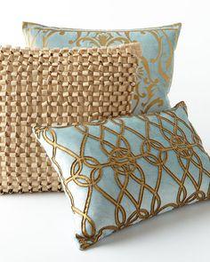 Blue & Gold Pillows