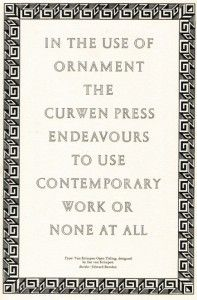 Curwen Press advertisement