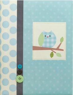 Blue Owl Baby Boy Record Book By Deva Design