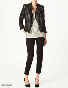 Nahkatakki, Zara / Leather jacket, Zara