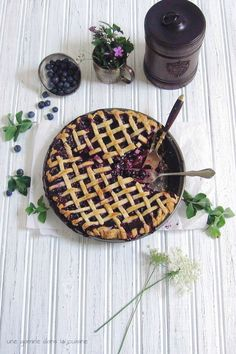 Midnight in Paris blueberry + garden mint pie