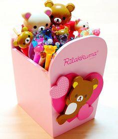 Rilakkuma box and writing utensils. Cute Things From Japan, All Things Cute, Girly Things, Kawaii Things, Rilakkuma, Japanese School Supplies, Cute School Supplies, Deco Tape, Washi