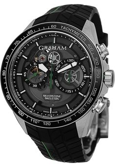 Graham Men's 2STAC2.B01A.K90 Silverstone Analog Display Swiss Automatic Black Watch