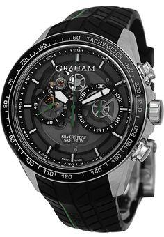 Graham Men's 2STAC2.B01A.K90 Silverstone Analog Display Swiss Automatic Black Watch