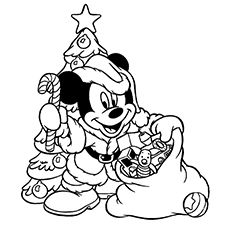 mickey christmas coloring pages.html