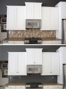 Painted Tile Backsplash Cover Those Ugly Tiles! Remodeling