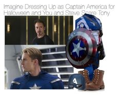 """Imagine Dressing Up as Captain America for Halloween and You and Steve Scare Tony"" by xdr-bieberx ❤ liked on Polyvore featuring Head Over Heels by Dune"