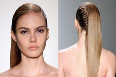Peinado con trenzas semi punk por Alexander Herchcovitch. #BeautyHair