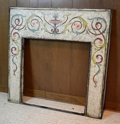 Antique Mosaic Fireplace Mantle | eBay