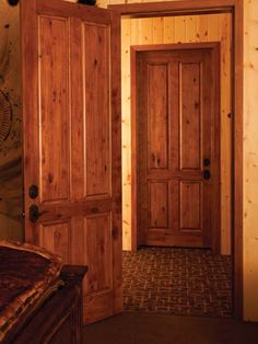 Rustic Wood Interior Doors arch 1-panel solid wood maple door traditional interior doors