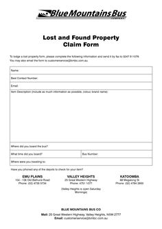 lost and found form