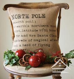 North Pole Pillow  http://cottagecoastalstore.com/detail-2217809.htm