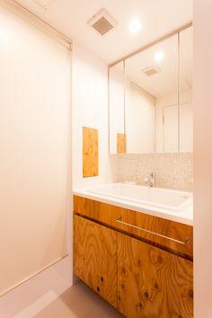 #K様邸練馬高野台 #洗面台 #洗面室 #シンプル #インテリア #EcoDeco #エコデコ #リノベーション #renovation #東京 #福岡 #福岡リノベーション #福岡設計事務所 Ideal House, Corner Bathtub, Alcove, Bathroom, Washroom, Ideal Home, Full Bath, Bath, Bathrooms